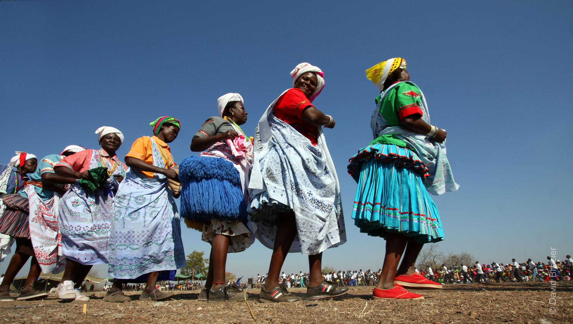 Shangaan women dancing during festival in Chiredzi, Zimbabwe